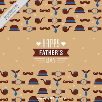 Father's day background with elements in flat design