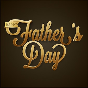 Father's day background with golden letters