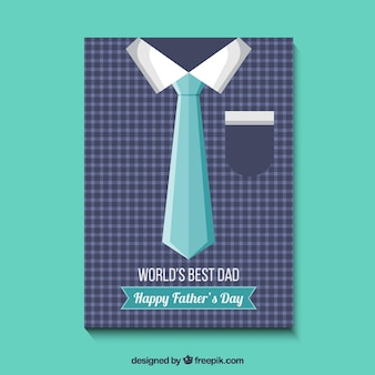 Father's day card with shirt and tie
