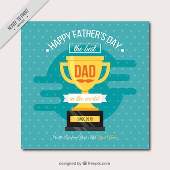Father's day card with trophy
