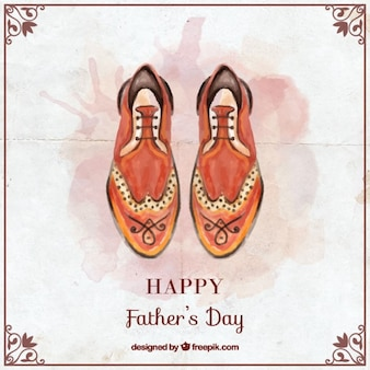 Father's day card with watercolor shoes