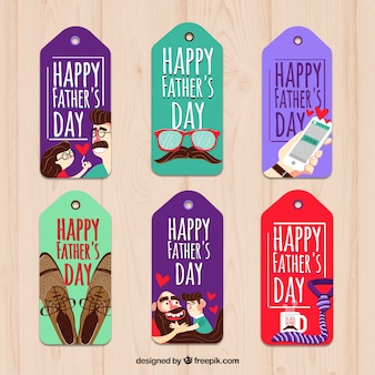 Father's day colored tags