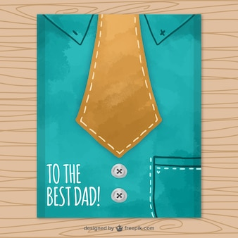 Father's day greeting card with shirt and necktie