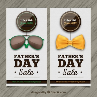 Father's day sale banners