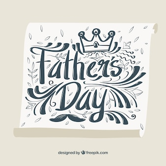 Father's day vintage writing background