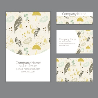 Feathers stationery design