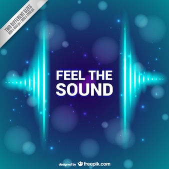 Feel the sound background