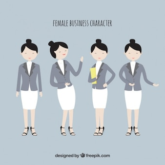 Female business characters collection