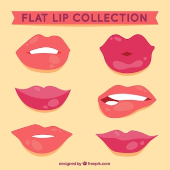 Female lips in flat style