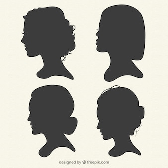 Female silhouettes collection