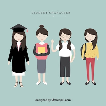 Female student characters