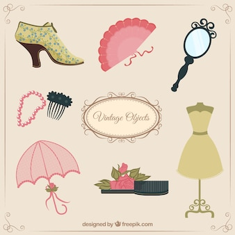 Female vintage objects