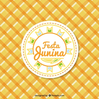Festa junina background with a tablecloth