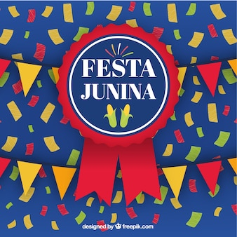 Festa junina background with badge