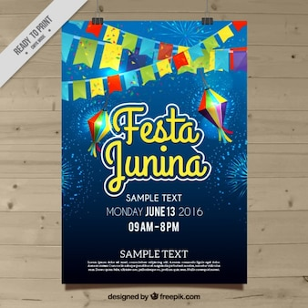 Festa junina celebration poster
