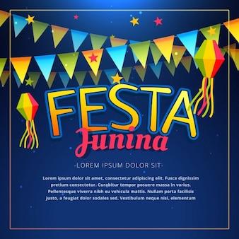 Festa junina  poster with garlands