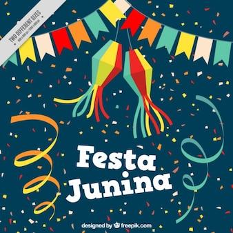 Festive background of festa junina