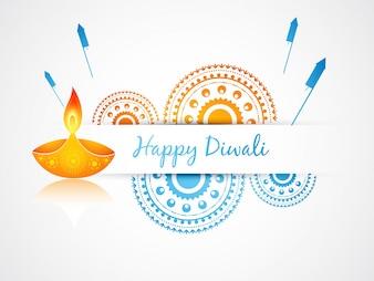 Festive candle design for diwali