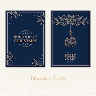 Festive christmas card design with greetings