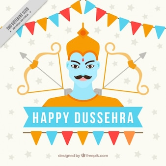 Festive happy dussehra background