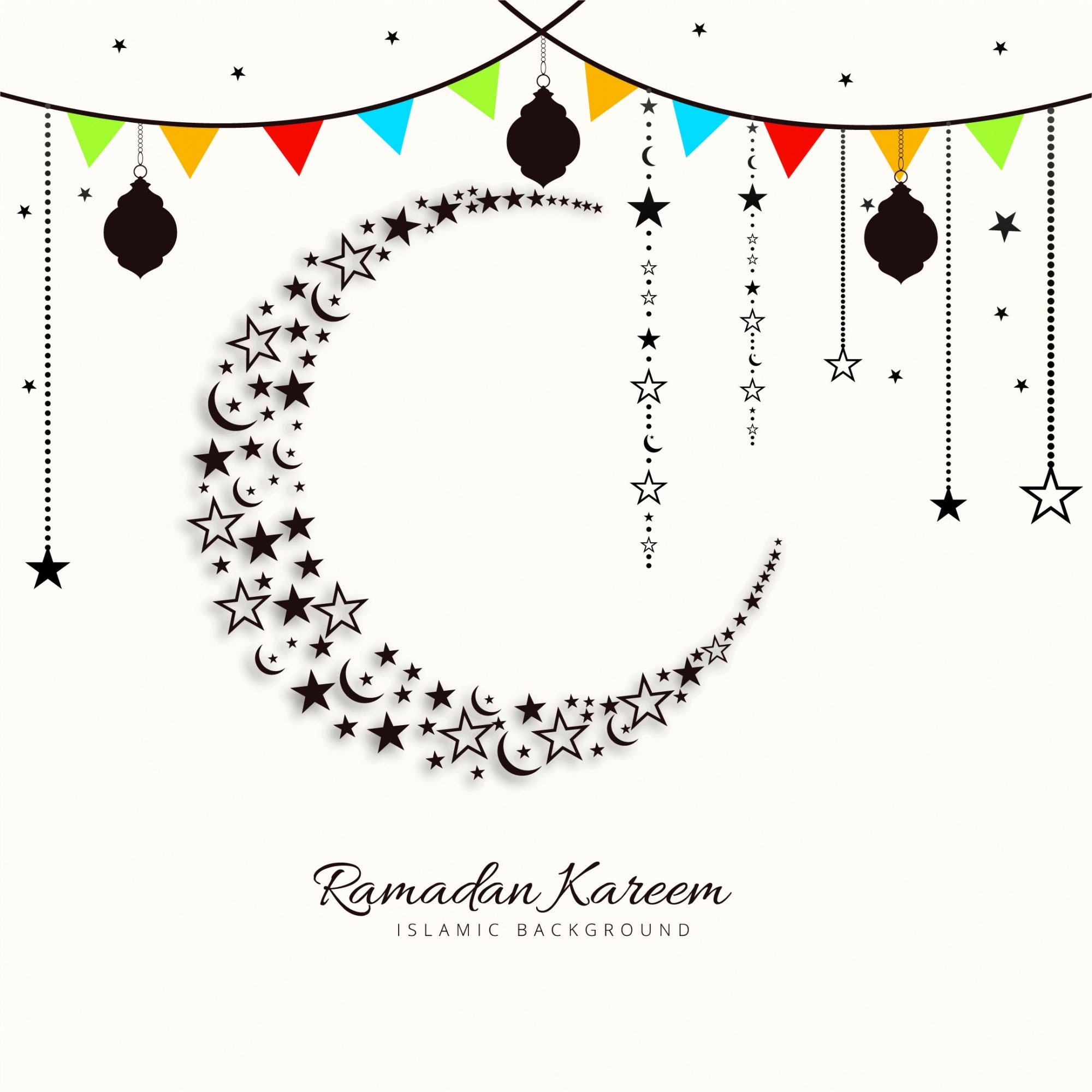 Festive ramadan kareem illustration