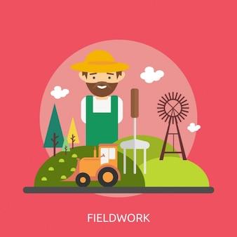 Field background design