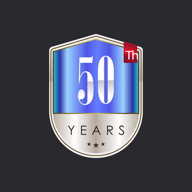 Fifty years background design