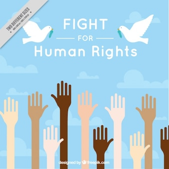 Fight for human rights background