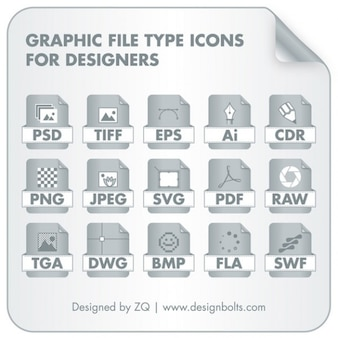 File type icons collection