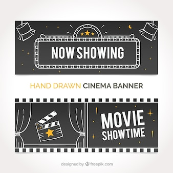 Film banners with sketches
