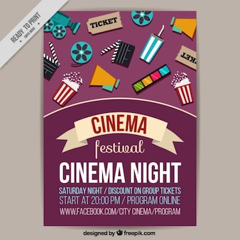Film festival poster with elements