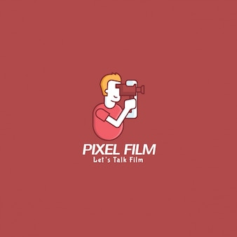 Film logo with a red background