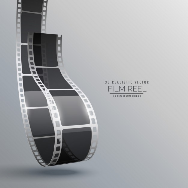 Film roll on a gray background