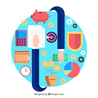 Finance concept with abstract style