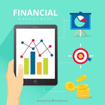 Finance concept with tablet and elements