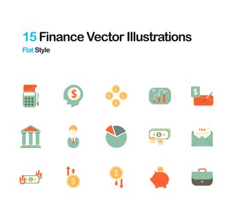 Finance Flat Illustration