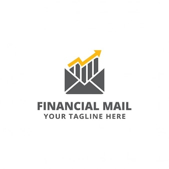 Finance logo, yellow and gray color