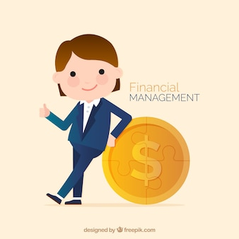 Financial background with business character