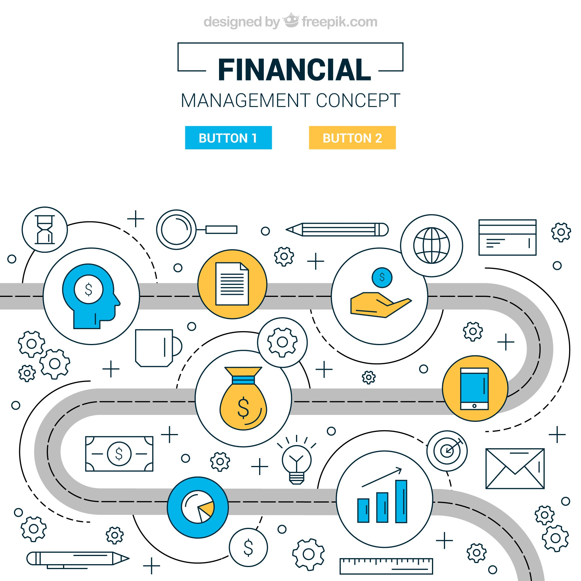 Financial concept with modern elements