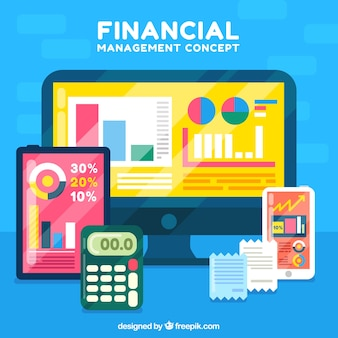 Financial concept with technology