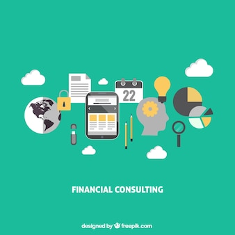 Financial consulting infographic