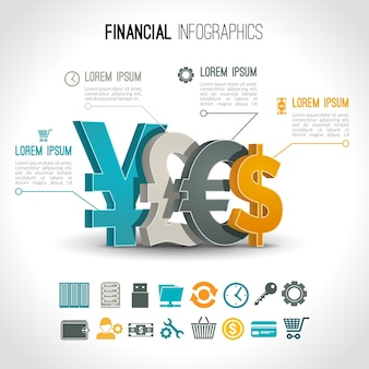 Financial infographic elements