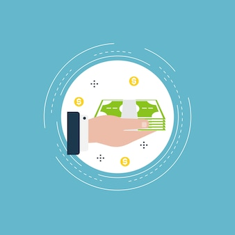 Financial investments illustration design