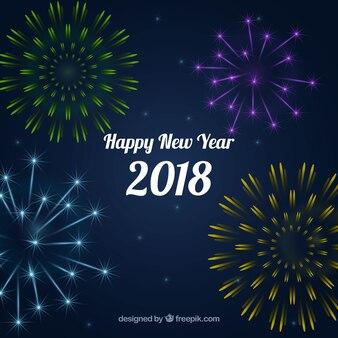 Fireworks 2018 background