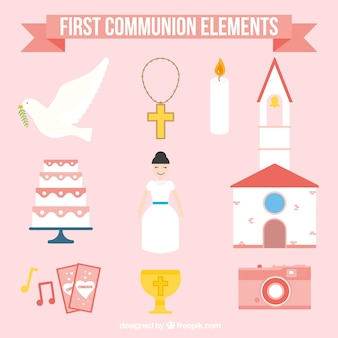First communion girl elements collection