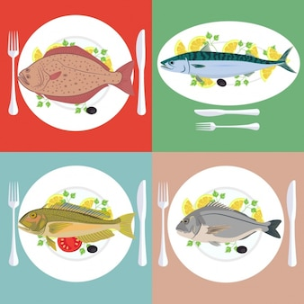Fish plates collection