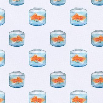 魚のタンクパターンの背景