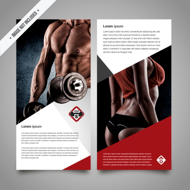Sports vectors 5 200 free files in ai eps format for Fitness brochure template