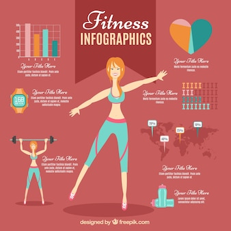 Fitness infographic for woman