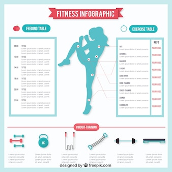Fitness infography